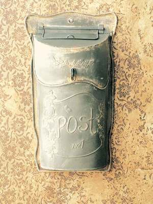 Slim Metal Post Box