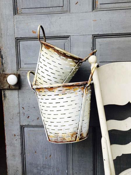 Olive Buckets | White | Set of 2