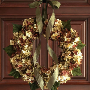 Summer and Fall Wreath for Door