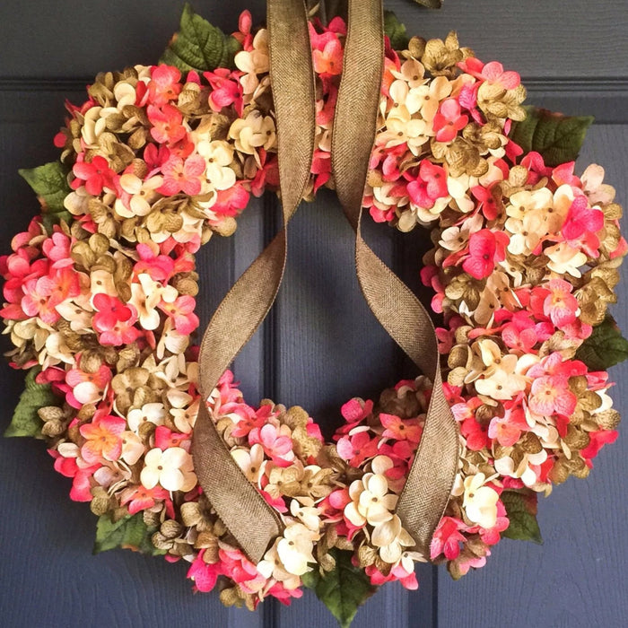 Spring Hot Pink Front Door Wreath