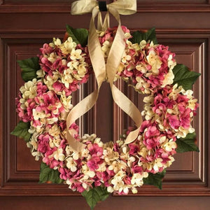 Wreaths | pink front door wreath