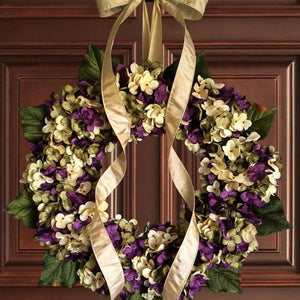 Wreath for Door, purple door wreath
