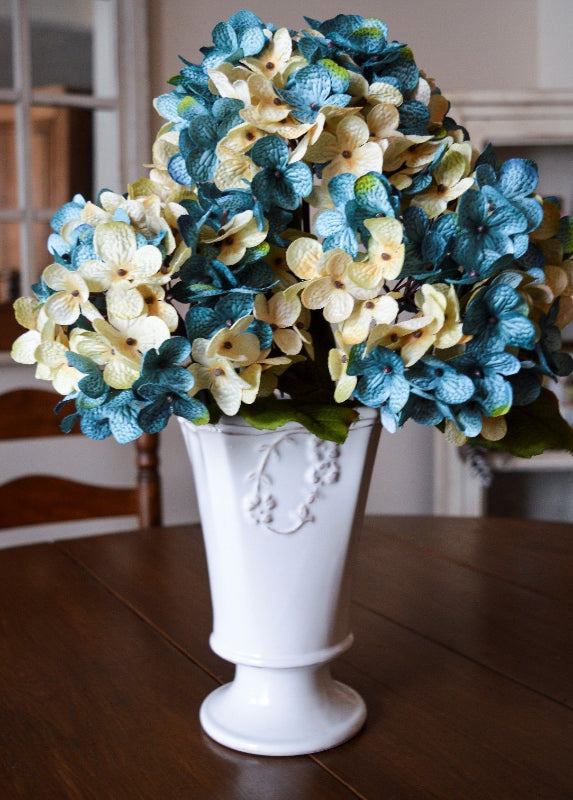 Blue floral stems