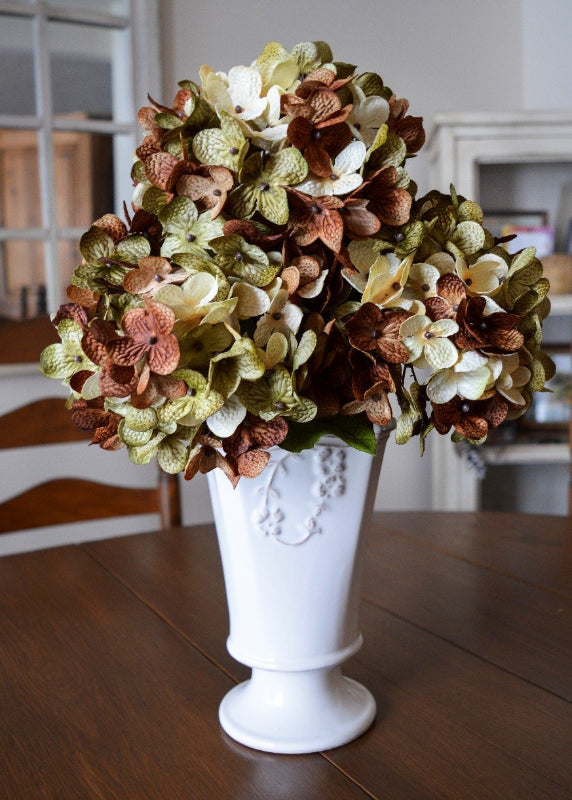 floral stems green cream brown