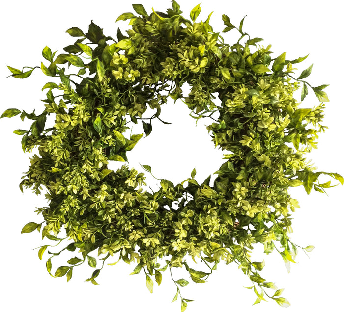 Boxwood Spring Door Wreath 22 in