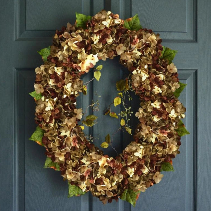 Oval Hydrangea Front Door Wreath