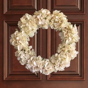 Soft Cream Hydrangea Wreath