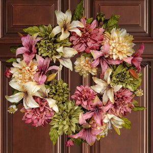 Spring Floral Front Door Wreath