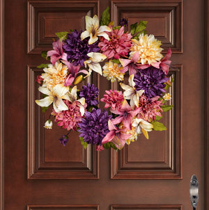 24 inch spring wreath for front door