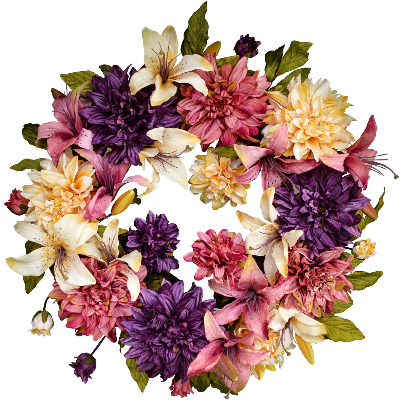 Spring Wreaths For Front Door 24 In Hhgdecor