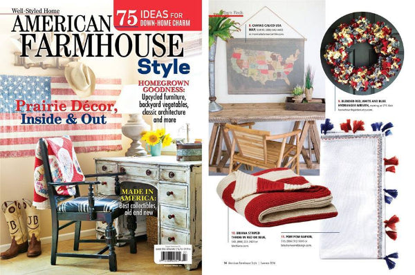 Farmhouse Style Magazine HHGDECOR patriotic wreath