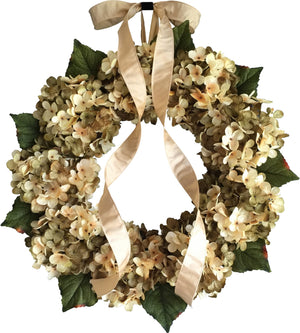 Green Hydrangea Front Door Wreaths