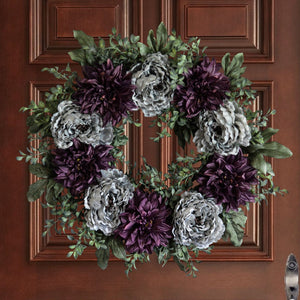 peony wreath for front door