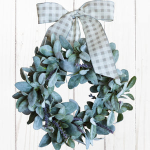 lambs ear mini wreath