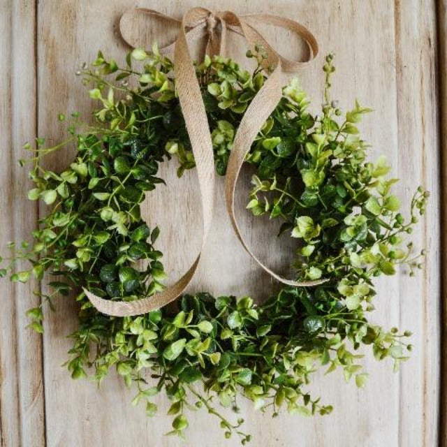 Farmhouse Decor Small Eucalyptus Wreath