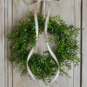 mini greenery wreath