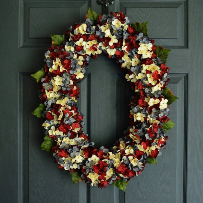 Americana Oval Front Door Wreath