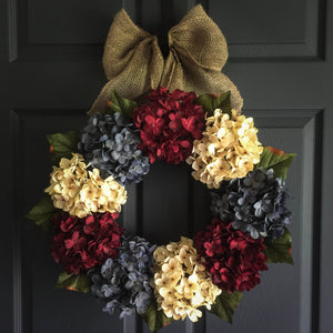 Patriotic Front Door Wreath for 4th of July