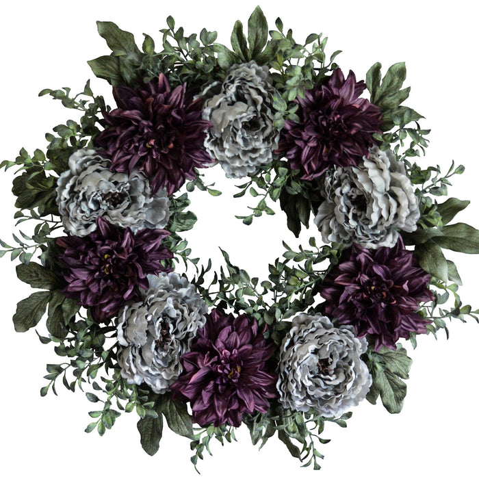 Spring Peony Front Door Wreath 24 in