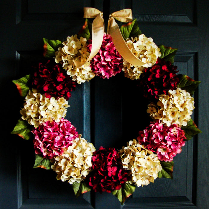Valentines Day Hydrangea Door Wreath 22 in