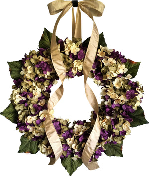 Spring purple door wreaths
