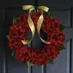 red wreath - year round wreaths