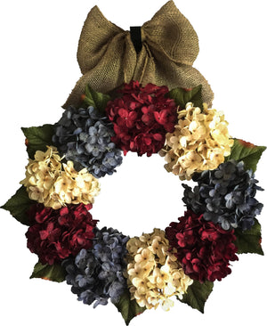 red white blue wreath