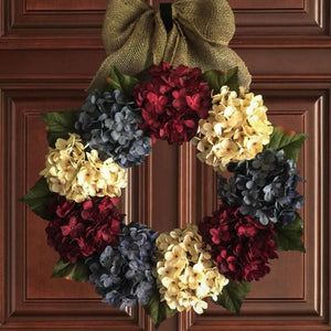 red white blue patriotic wreath