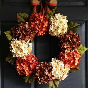 rustic fall hydrangea wreath