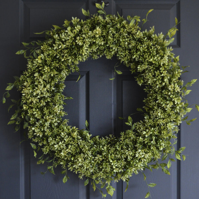 Large Boxwood Door Wreath 28 in
