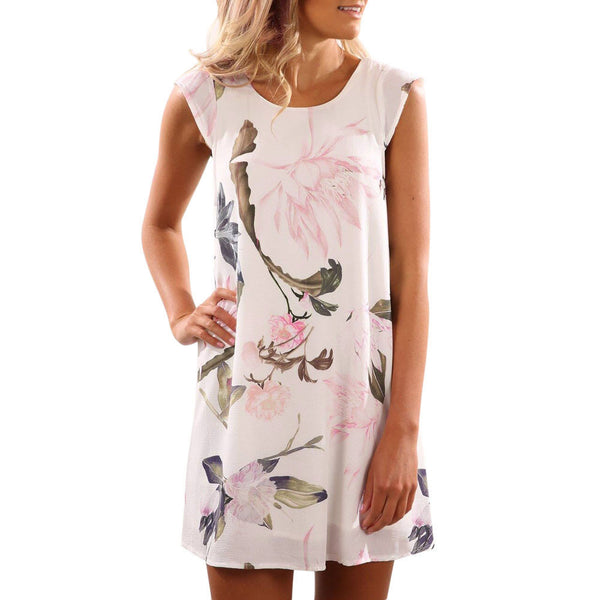 Gorgeous Floral Pattern Casual Dress
