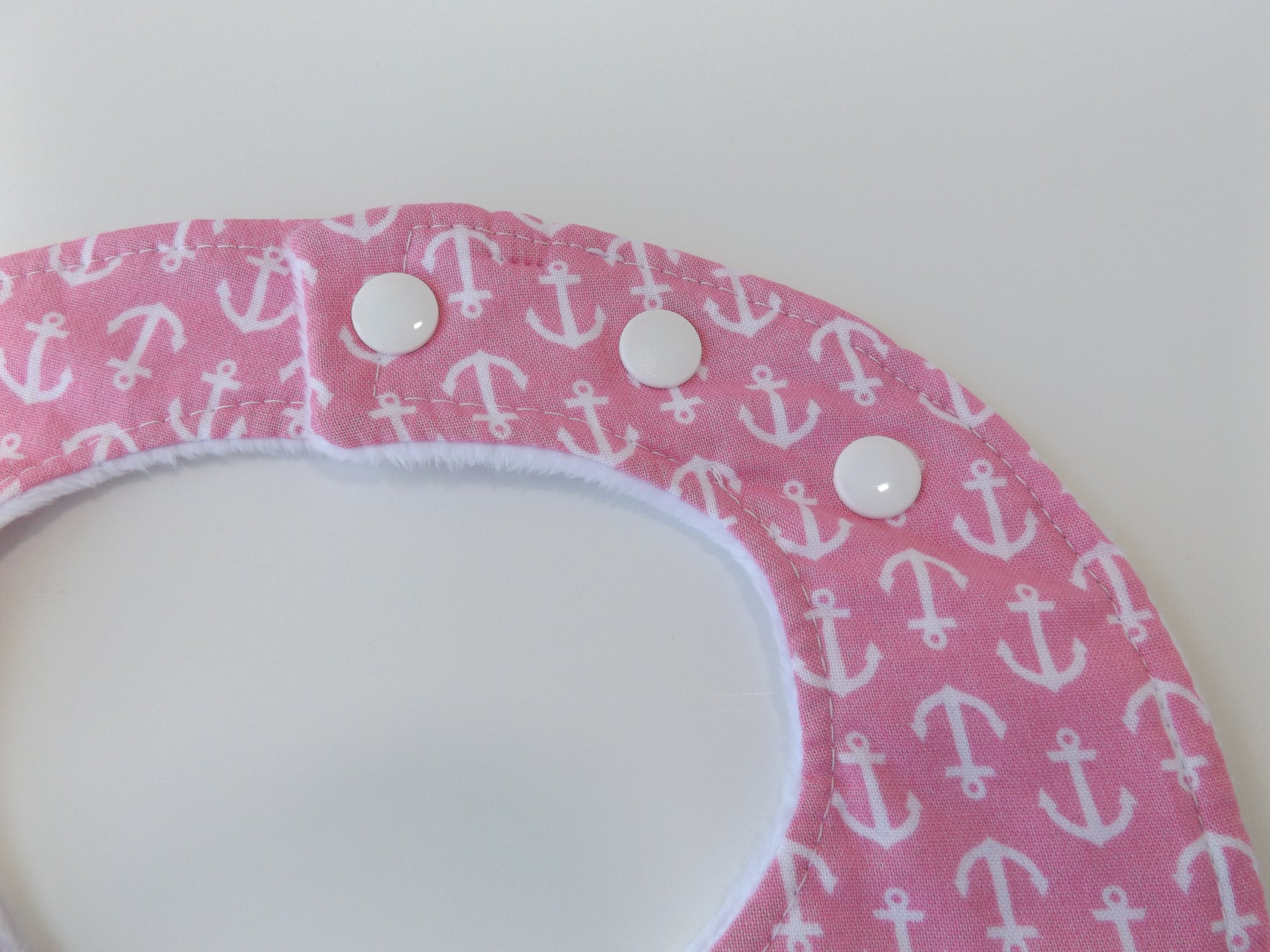 Anchors Away Bibs in Pink