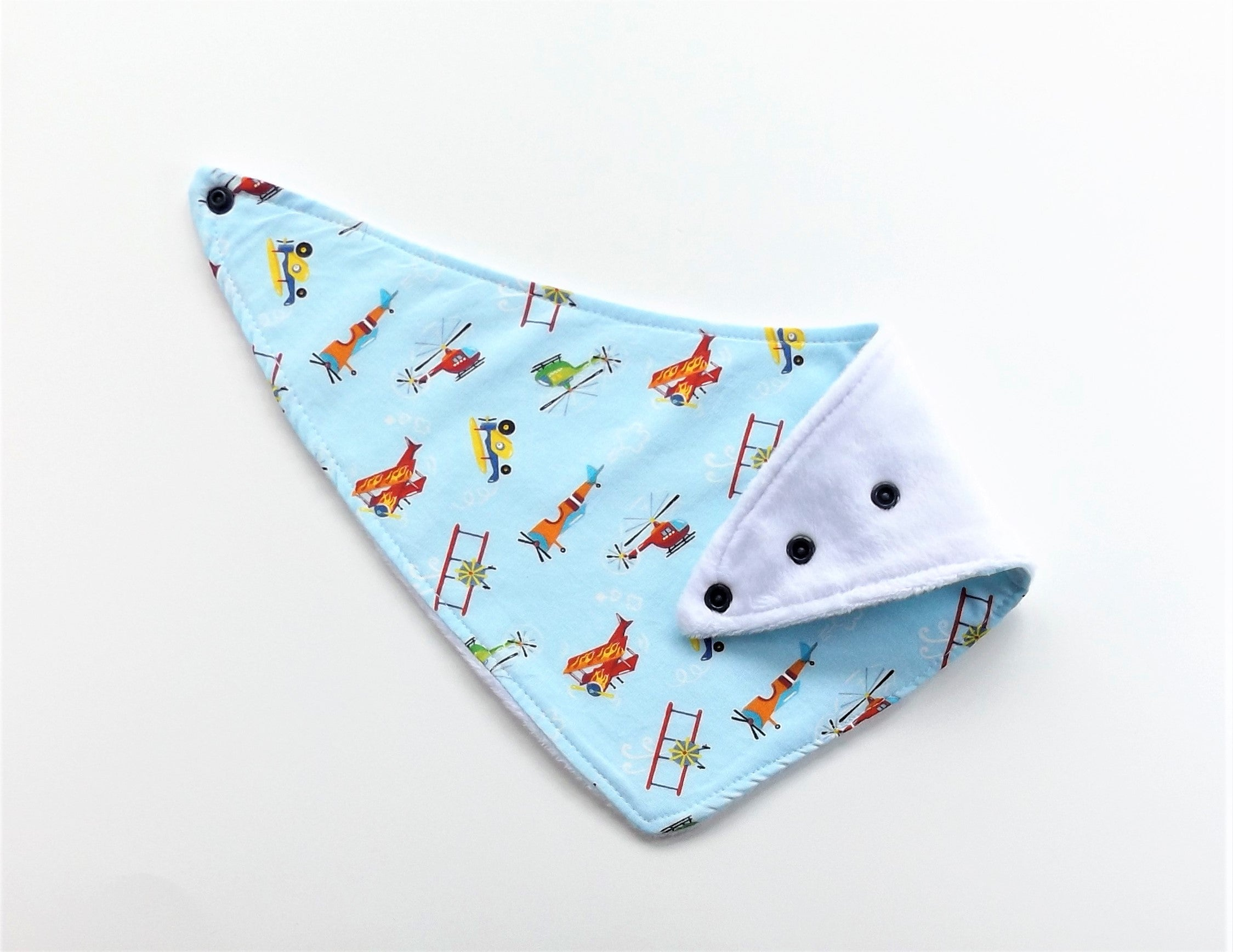 Let's Fly Bibs and Burp Cloth
