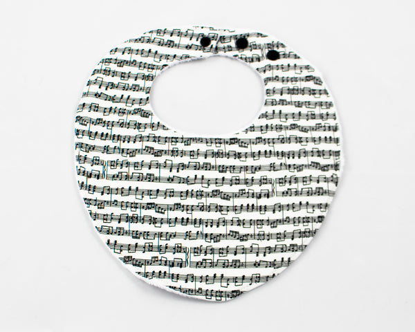 Music Notes Bib