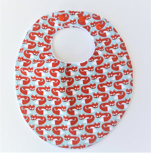 Red Fox Bib & Burp Cloths