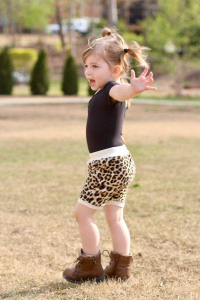 Sporty Cheetah Shorts