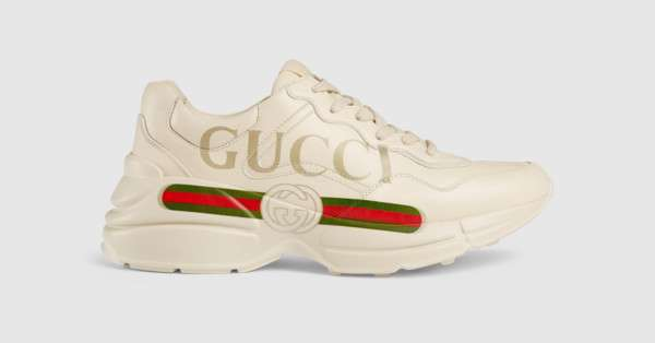 Rhyton Gucci logo leather