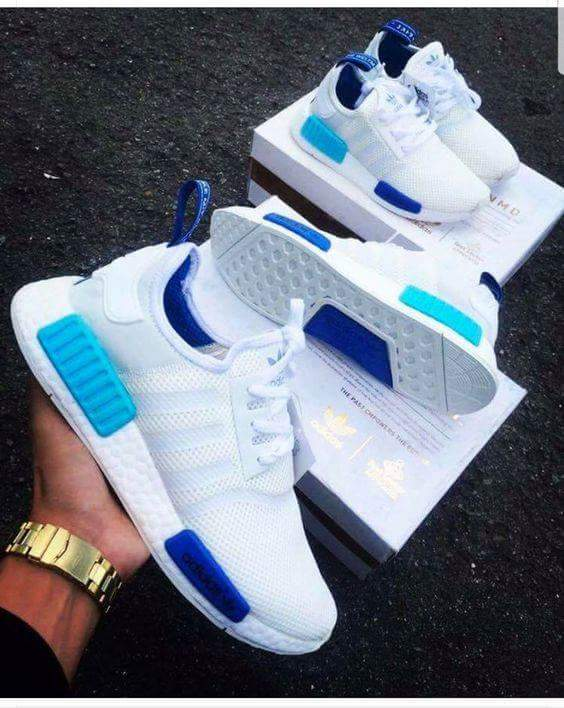 Adidas NMD RUNNER WHITE BLUE *