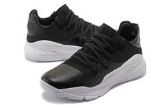 UA Curry 4 Low Black/White