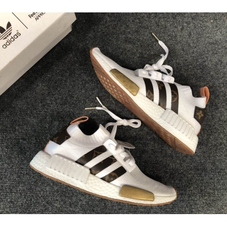 adidas nmd runner pk white gold