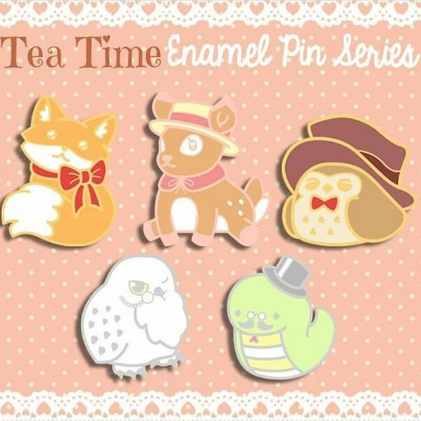 Tea Time Enamel Pin Kickstarter
