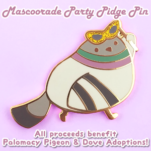 Charity pin benefiting Palomacy Pigeon & Dove Adoptions