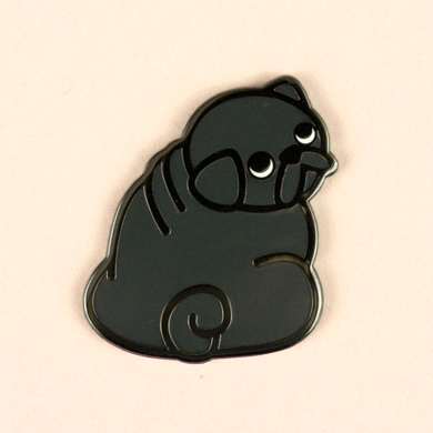 Pug Pin - Black - Flea Circus Designs