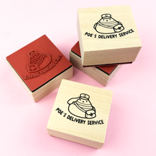 Poe Rubber Stamp - Flea Circus Designs
