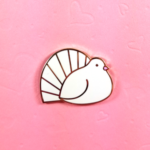 Fantail Dove Pin - Flea Circus Designs
