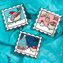 Christmas Poe Stamp Pins - Flea Circus Designs