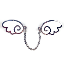 PRE-ORDER Angel Wings Silver/White Enamel Pin - Flea Circus Designs