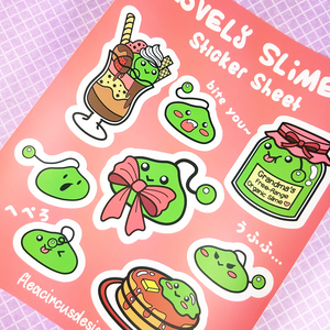 Slime Sticker Sheet - Flea Circus Designs