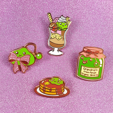 Slime Parfait Pin - Flea Circus Designs