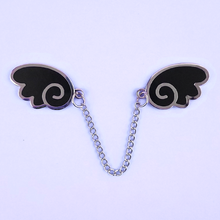 Angel Wings Silver/Black Enamel Pin - Flea Circus Designs